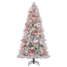 Hallmark Family Tree Photo Display Stand Hallmark 100100' Artificial Northern Estate White Flocked Christmas 92