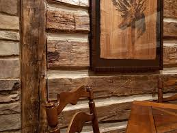 faux cabin walls log cabin interior