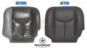 2003 2007 chevy silverado lt ls z71 leather seat cover driver bottom dark gray