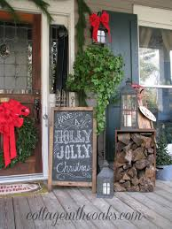 Rustic Chalkboard Art Christmas Porch By Cottage In The Oaks Home Stories To 20 Beautiful Christmas Porch Ideas