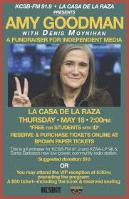 book signing flyer amy goodman of democracy now santa barbara lecture book signing