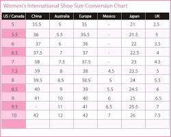 56 New International Shoe Size Chart Home Furniture