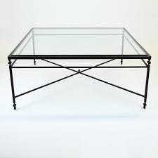 large square glass coffee table 48 w coffee tables beautiful framed glass top iron metal base
