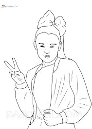 #peaceouthaterz, jojo siwa, paper, party png. Jojo Siwa Coloring Pages 18 New Images Free Printable