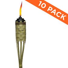 TIKI 10-Pack 57-in Bamboo Garden Torch