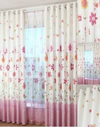 bedroom floral curtains