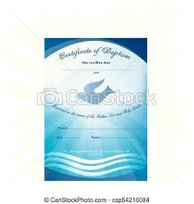 Certificado De Bautismo Template Certificado Agua Ondas Bautismo Paloma Template