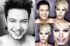 look like man transforms into his favourite celebrities using make up how