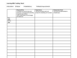 skills tracking sheet learning skills tracking sheet ontario by mlle v tpt