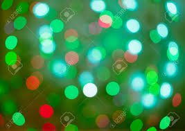 Red And Green Holiday Bokeh Abstract Christmas Background