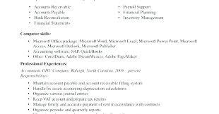 Sample Accounts Receivable Resume Spacesheep Co