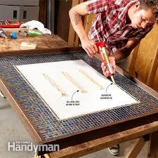 DIY Decorating Frame Your Mirror With Glass Tile The Family Handyman