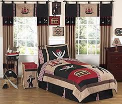 sweet jojo designs 4 piece trere cove pirate children s boys twin bedding set