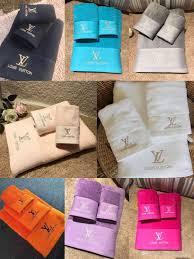 Designer Bath Towels Luxury Bath Towels Designer Embroidered Brand Square Towel Beach Towel And Bath Towel 3 Piece 1 Set Cotton Fabric Soft Comfortable New Arriv