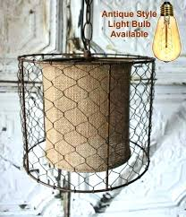 awesome en wire chandelier burlap drum shade chandelier en wire burlap swag lamp pendant light en awesome en wire chandelier