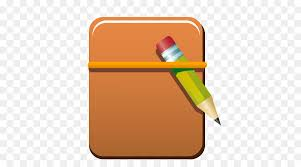 pencil notebook icon cartoon book and pen