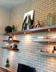 shelves on brick wall dream home decorating ideas brick office wall shelf putting up shelves brick