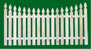 white picket fence. Straight Top Wood Spaced Picket Fencing. 300 T\u0026G Base With SQL18 Topper White Picket Fence