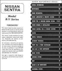 nissan b11 wiring diagram nissan discover your wiring diagram 1983 datsunnissan sentra repair shop manual original