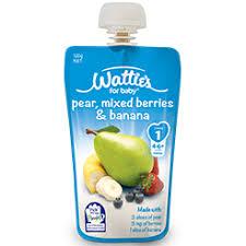 Watties Baby Food Chart Watties Pear Mixed Berries Banana For Baby Nz