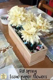 tissue paper flower centerpiece ideas diy spring tissue paper flowers