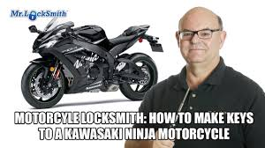 Motorcycle Locksmith: How to make <b>keys</b> to a <b>Kawasaki</b> Ninja ...