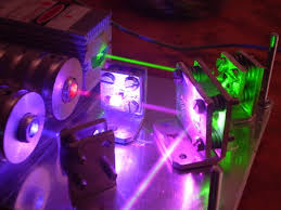 the homemade ttl constant cur driver modulates the lasers to simulate over 16 million colours from an ordinary rgb led circuit with pwm amplified by