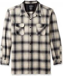 Pendleton Shirt Size Chart Pendleton Mens Classic Fit Long Sleeve Board Shirt Black