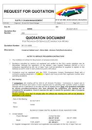 Construction Quotation Sample Format 1 Elsik Blue Cetane