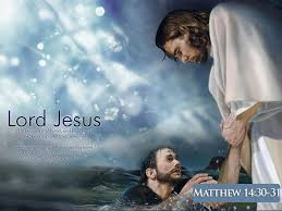 Image result for jesus and peter on water
