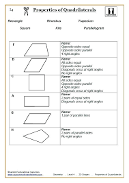 2d Shape Worksheet Quadrilaterals Maths Worksheet A Quadrilaterals ...