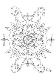 またまた自作曼荼羅塗り絵 ふうこのアートでセルフセラピー