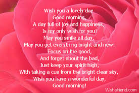 wish you a lovely day good morning poem