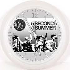 office wall clock. Image Is Loading 5-Seconds-of-Summer-5SOS-Wall-Clock-10- Office Wall Clock