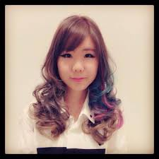 ash brown pink and blue hair colour by ryo from cleo make singapore