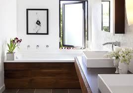 Rustic modern bathroom ideas Amazing The Spruce 16 Modern Farmhouse Bathrooms
