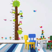 Animals Height Chart Decal Children\u0027s Room Baby Nursery Cartoon ...