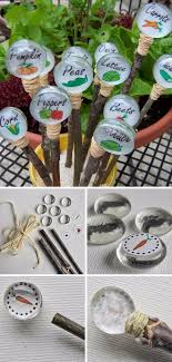 garden labels. DIY Glass Gem Garden Markers Labels E