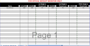 Biggest Loser Excel Spreadsheet Biggest Loser Spreadsheet Biggest Loser Excel Spreadsheet