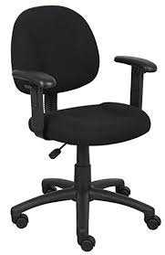 office chair material. boss office products b316bk perfect posture delux fabric task chair with adjustable arms in material