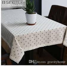 dandelion linen table cloth country style flower print multifunctional rectangle table cover tablecloth with lace edge 60 inch round tablecloth teal