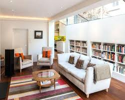 modern living room decorating ideas for apartments photo of a contemporary in with reading nook white walls and design pictures inspiration