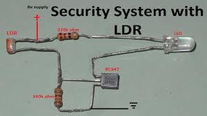 Light Alarm Circuit With Ldr Ldr Latch Circuit Security Alarm With Ldr