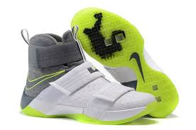 lebron green. lebron soldier 10 green and white