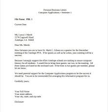 Business Letter Format Word Sample Personal Business Letter 9 Documents In Pdf Word