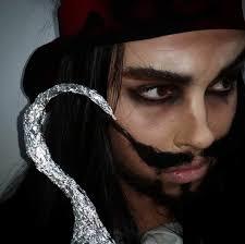 modern pirate makeup for men