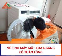 Vệ Sinh Máy Giặt Cửa Ngang Có Tháo Lồng Giặt