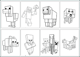Minecraft Coloring Pages For Kids Coloring Pages Combined With Free