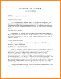 Resume Job Descriptions Examples Resume For Study