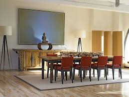 custom zen plank dining table and buffet in the asian style dining e design